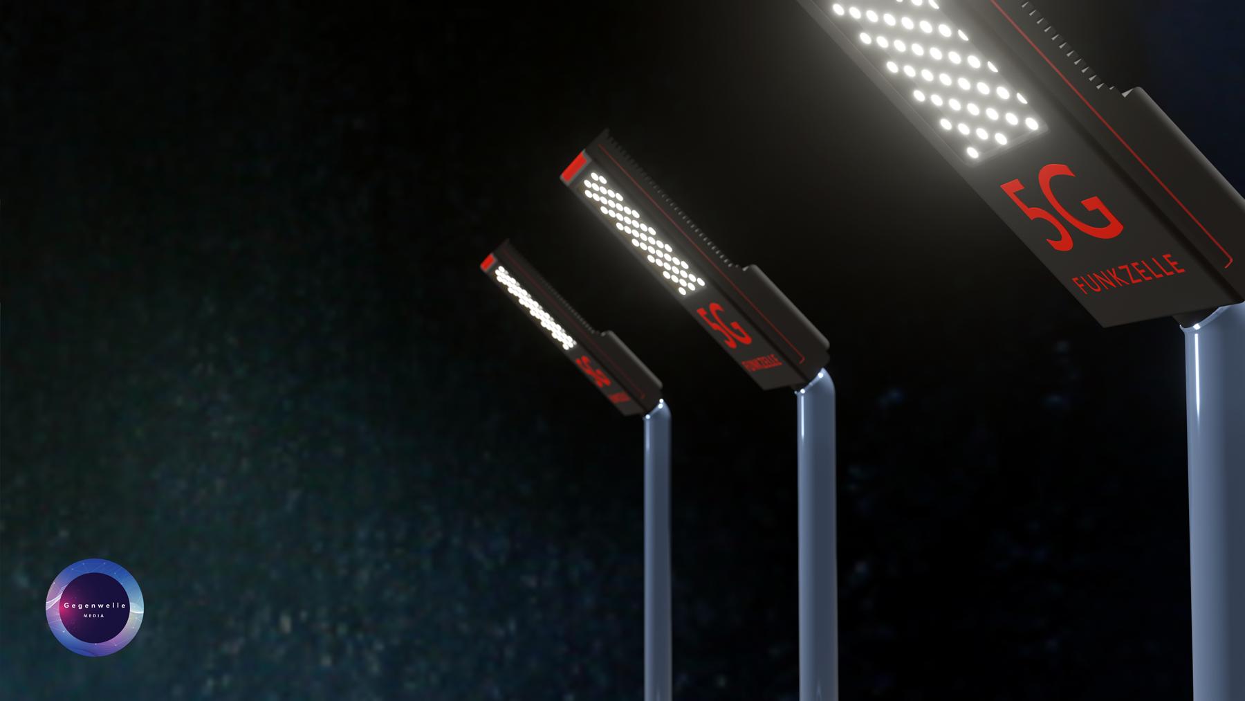 5G Mobilfunkzellen in Strassenlampen