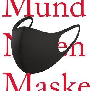Mundnasenmaske in schwarz, waschbar und leicht