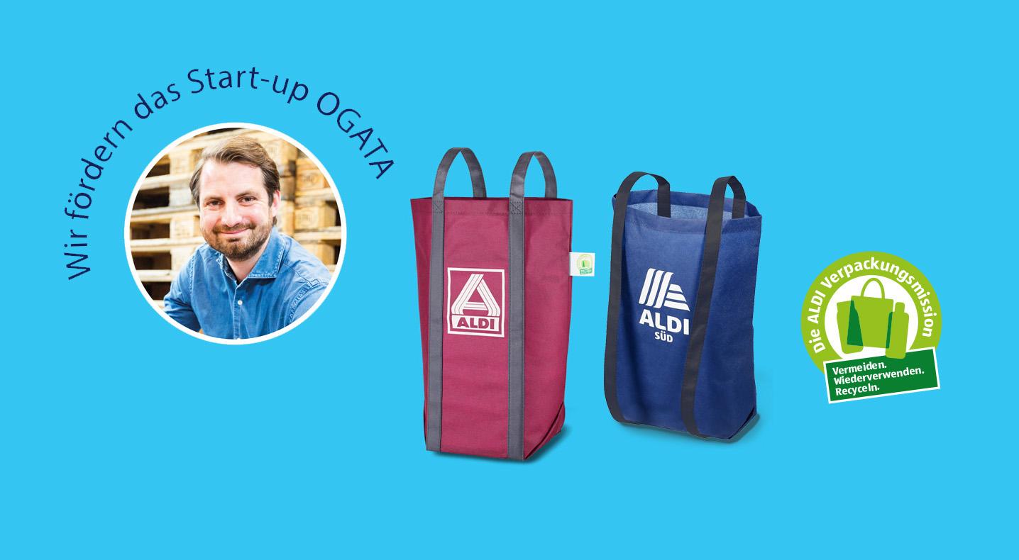 ALDI Tüte für den Rücken: Mehrwegtasche des Startups OGATA