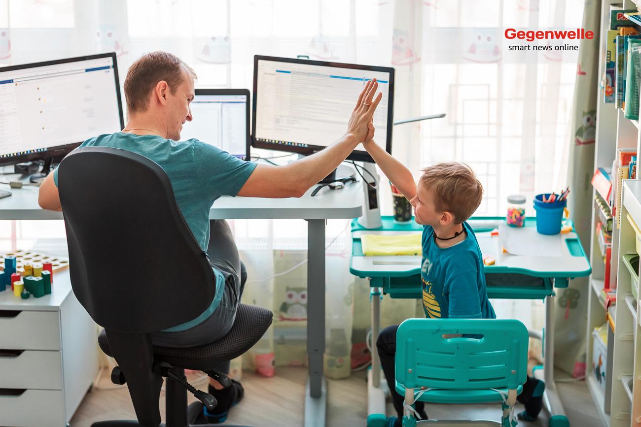 Arbeiten im Homeoffice mit Kinderbetreuung