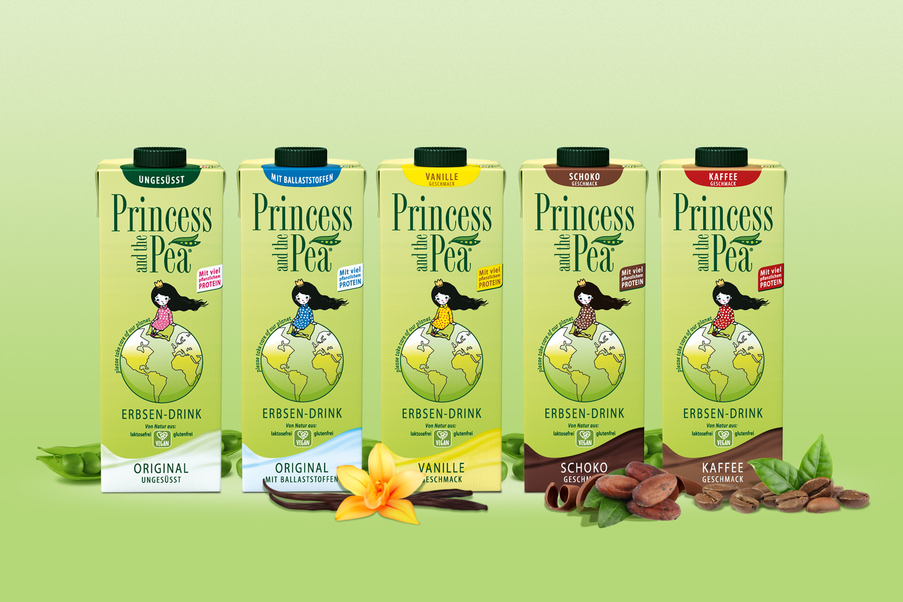 Erbsendrink statt Kuhmilch: PRINCESS AND THE PEA